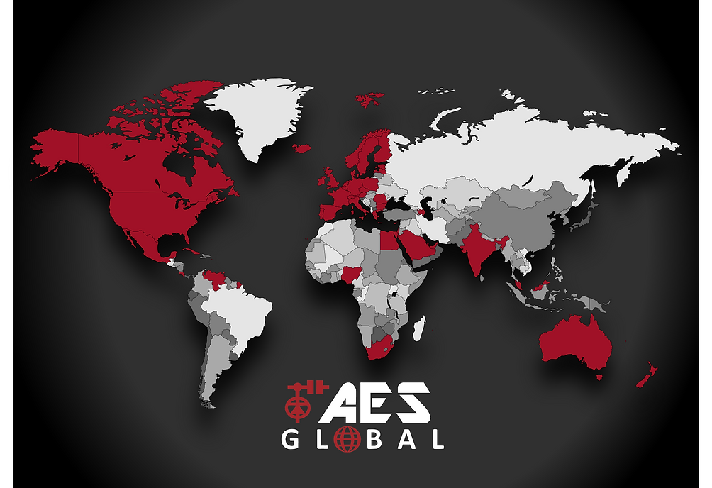 AES GLOBE VECTOR countries we have sold
