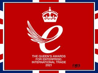 Proud winners of The Queen's Awards: International Trade 2021