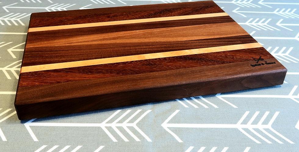 Walnut, Maple & Teak edge grain #001