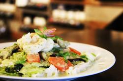 Green Thai curry, shrimp and pork and veggies