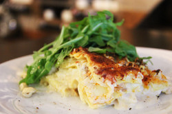Smocked artic char lasagna