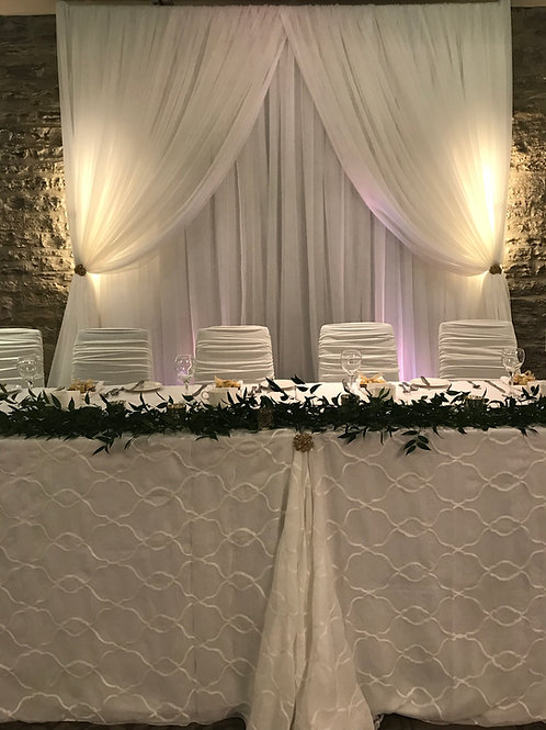 Simple Lace Overlay Head Table