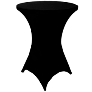 Black Spandex Cocktail Table Covers