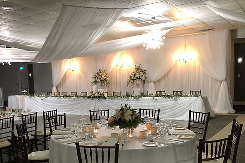 Head Table / Cake Table Draping - NO LIGHTS
