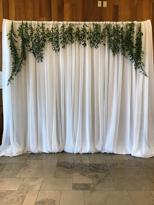 Backdrop with Greenery