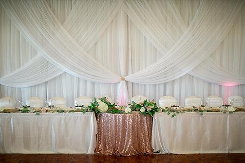 Blush Sequin Tablecloths
