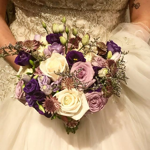 Shades of Lavender Rustic Bouquet