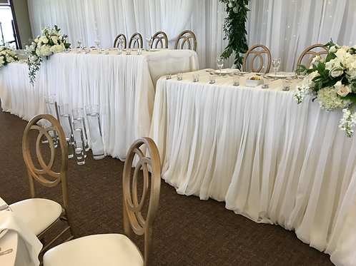 Head Table Draping - Straight Down