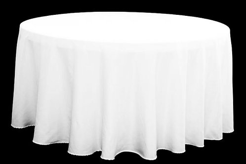 "120"" - 132"" Round Polyester Tablecloths - Multiple Colors"