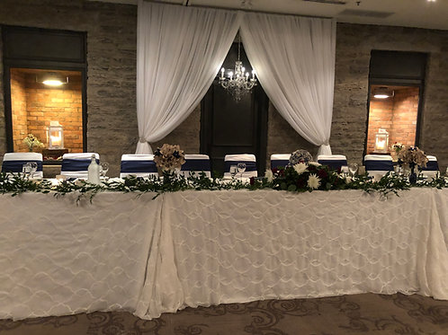 Open Draping with Chandelier