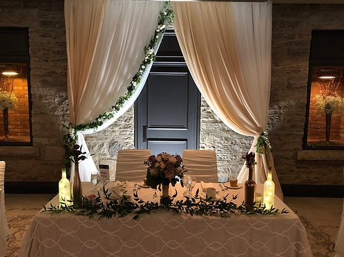 Open Two Tone Backdrop with Greenery
