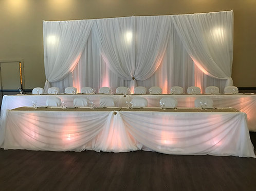 Head Table / Cake Table Draping - Up Lights