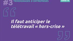 """Crise Covid-19 : """"Il faut anticiper le télétravail hors-crise"""""""