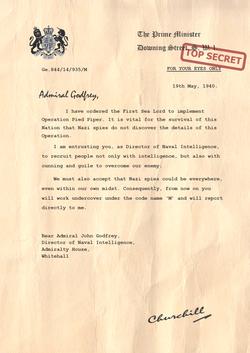 Churchill Letter to John Godfrey PNG