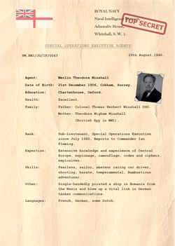 Merlin Minshall British Naval Intelligence Agent PNG