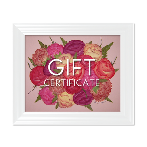 Pressed Garden Gift Certificate