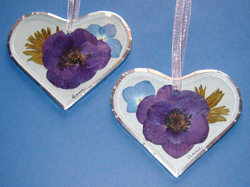 Bevelled Glass Ornament - Heart Shape