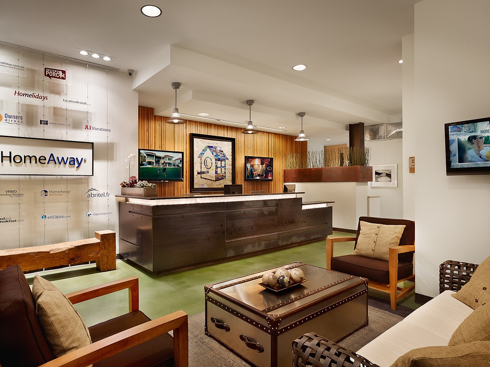 HomeAway's reception area