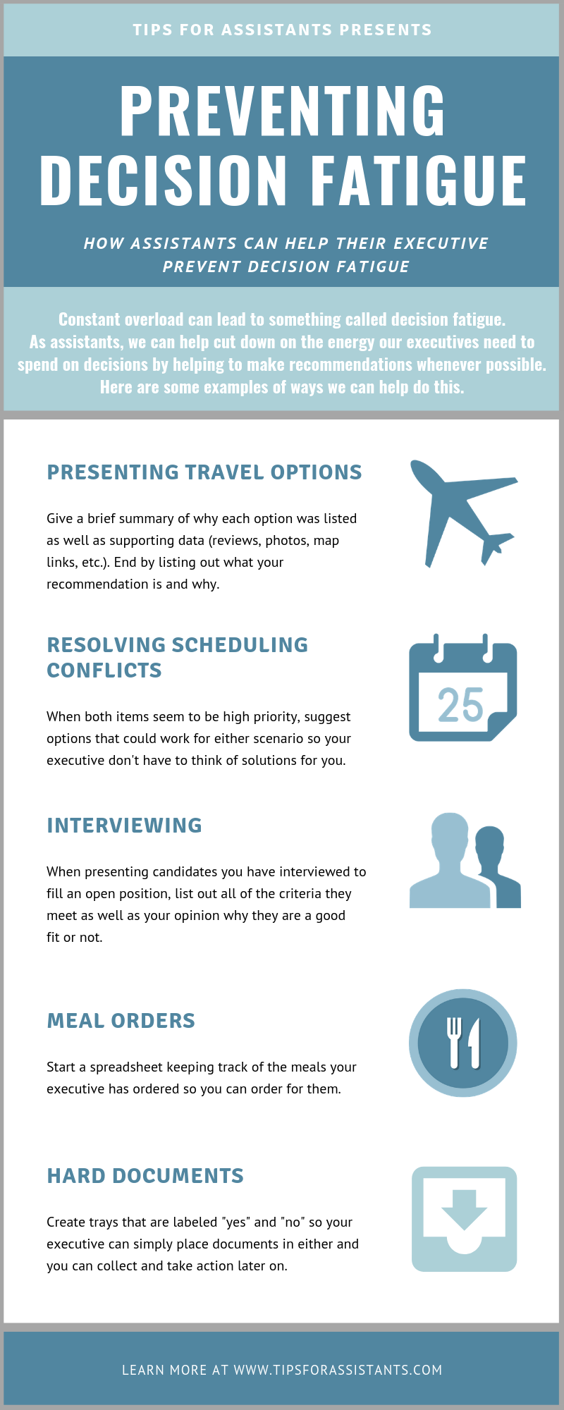 How to Help Your Executive Prevent Decision Fatigue [Infographic]