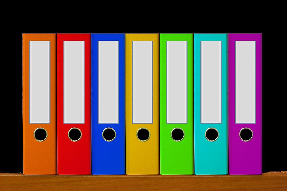 Folders for a traveler profile