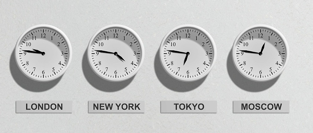 Different timezones