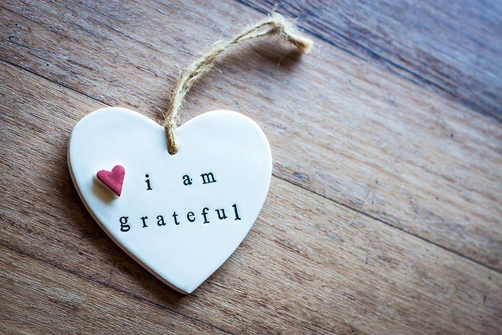 """I am grateful"""