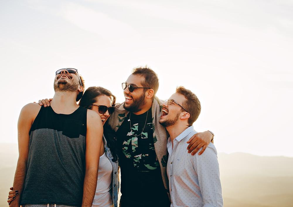 Group of people bonding