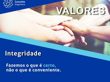 Valores Conceito Diagnóstica - Integridade