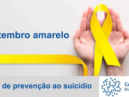 Setembro amarelo - Mês de prevenção ao suicídio.