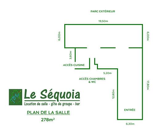 Plan salle le Séquoia