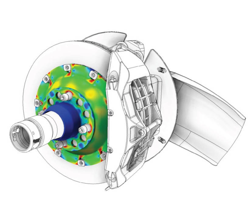 Structural Mechanical Analysis Brake FEA