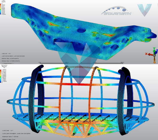 Structural analysis Starneth Vierhout Capsule frame FEA