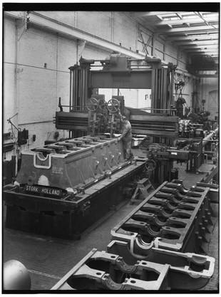 Stork diesel bewerking schaafbank 1933-