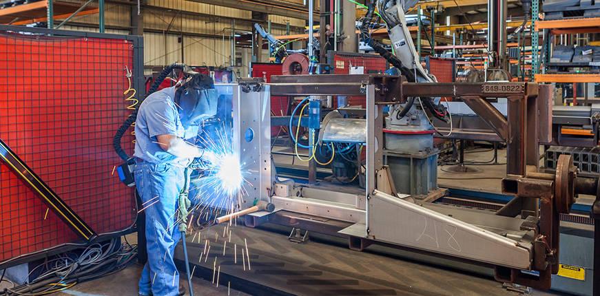 Metal welder factory