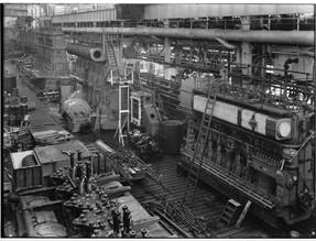Stork Dieselmotoren montagehal 1940