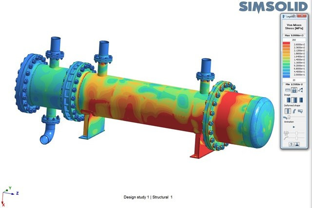 SimSolid Thermal stress 02