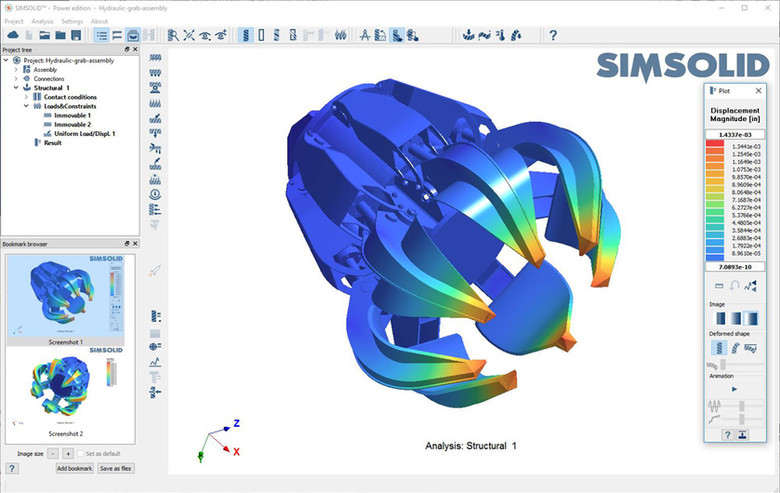 SIMSOLID-Gripper analysis 1