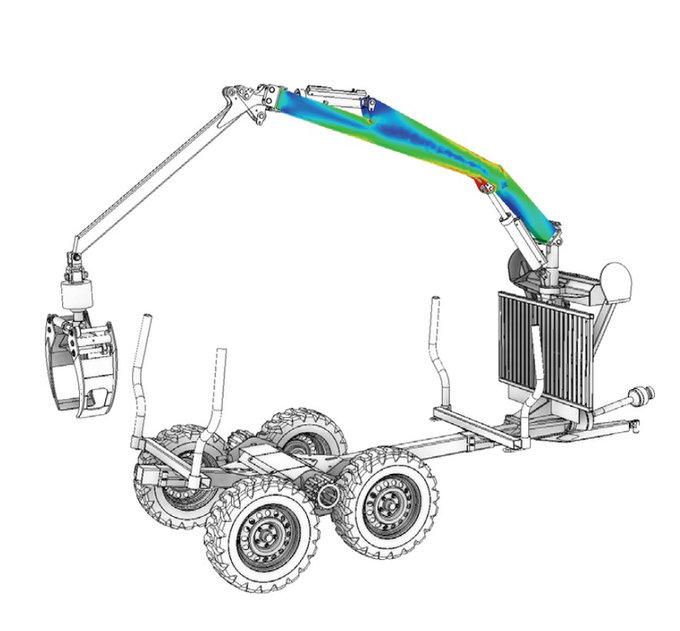 Structural Mechanical Analysis Hoist Beam FEA