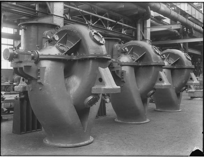 Stork Pompen 3 centrifugaalpompen voor gemaal Waarbeek