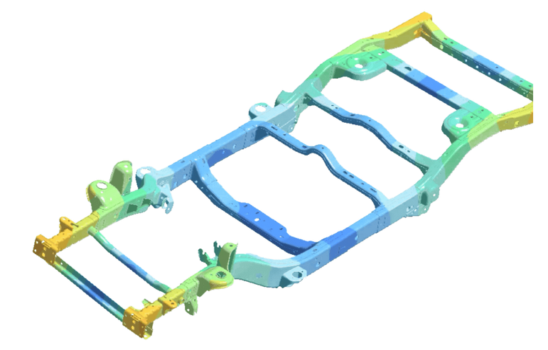 Simsolid_auto_frame-Detail-FEA