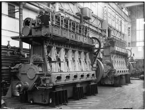 Stork Dieselmotoren Montage 6-cilinder