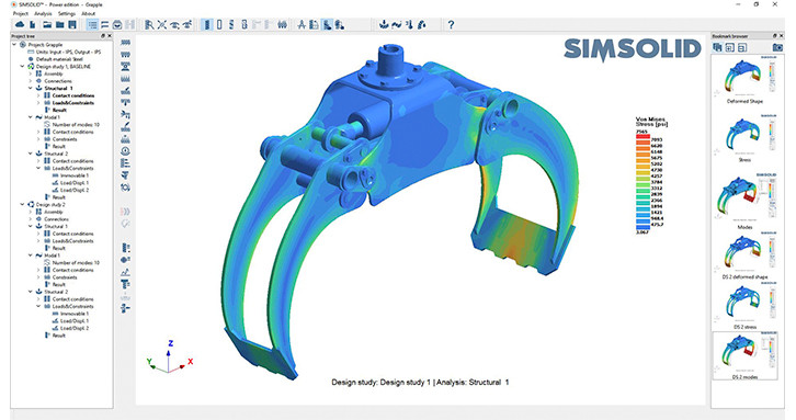 SimSolid-Gripper assembly analysis