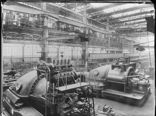 Stork stoomturbines montage 1938-1939