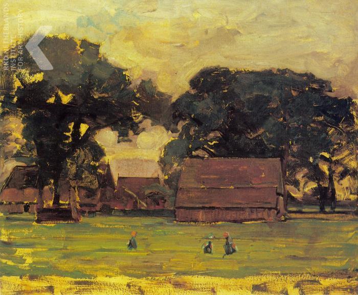 Piet Mondriaan - Farmstead under oak tree