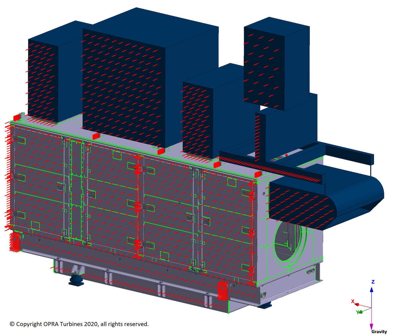 Structural Mechanical Analysis FEA FEM Construction - Gas Turbine Package - Machinebouw - Skid
