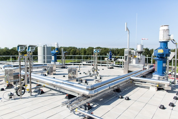 Ephyra vergister biogas bovenkant tank Machines - RWZI Tollebeek