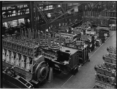 Stork Dieselmotoren montage 1939