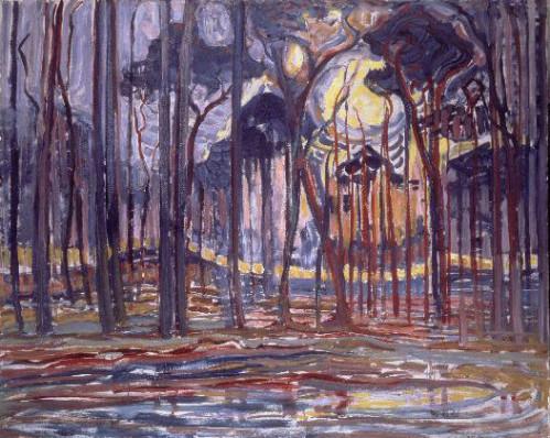 Piet_Mondriaan - Forest -  Bos bij Oele - Waarbeek