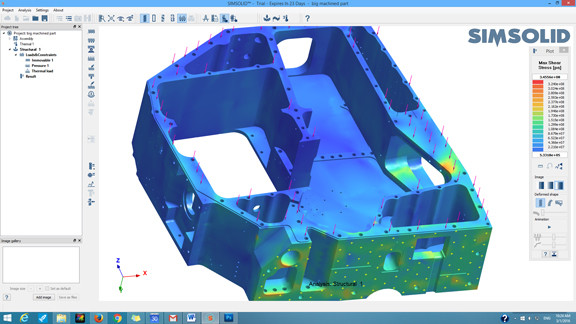 SIMSOLID-analysis-on-detailed-CNC-part