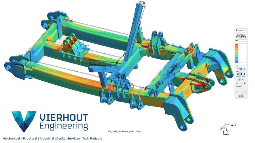 Vierhout Engineering - Structural - FEA - FEM - Weldment - Frame